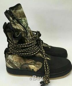Hommes Nike Air Force 1 Sf Af1 Armée Du Salut Bottes Noir Camo Réfléchissant Aa1128-004 12
