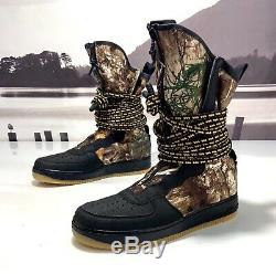 Hommes Nike Air Force 1 Sf Af1 Salut Noir Camo Bottes Armée Reflective Aa1128-004 Sz
