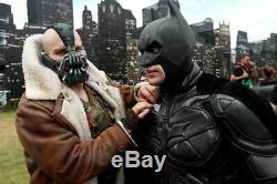 Hommes Tom Hardy En Cuir Brun Manteau De Fourrure Veste Bane Batman Dark Knight Rises Manteau