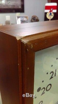 IBM Us Army Armée De L'air 24hr Vintage Minute Impulse Secondaire Slave Clock Works