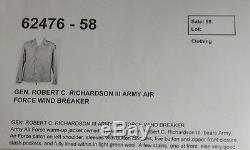 II Commandant Plus Tard Ww Général Robert C. Richardson III Armée Armée De L'air Jacket