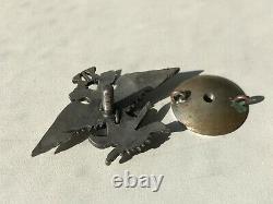 Insigne D'argent De Crâne D'argent De Crâne De Crâne De Pilote De L'armée Blanche Russe De Guerre Civile