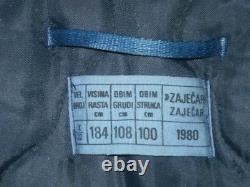 Jna (armée Des Peuples Yougoslaves) Veste D'hiver Bleu Foncé M-77 De L'armée De L'air