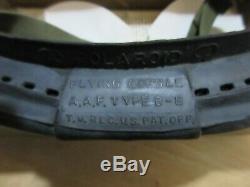 L'armée Américaine Polaroid Airforce B8 Lunettes Flying M-1944 Wk2 Seconde Guerre Mondiale Monnaie Dans L'encadré Usaaf