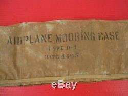 L'ère De La Seconde Guerre Mondiale L'armée De L'air Des États-unis Aaf Type D-1 Airplace Kit D'amarrage Avec Étui En Toile Rare