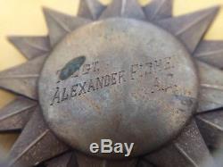 La Médaille Aérienne Gravée Du Corps De L'armée De L'air Des États-unis Est Nommée T / Sgt Alexander Fisher A. C