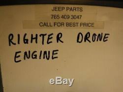 Le Moteur De Cible De Drone De L'armée De L'armée De L'armée De L'air Américaine Restauré Ww2 Avec Carb Sera Expédié