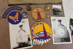 Lot De Chapeaux / Insignes De Commandement De Transport Aérien Des Forces Aériennes De L'armée De Terre D'origine Ww2.