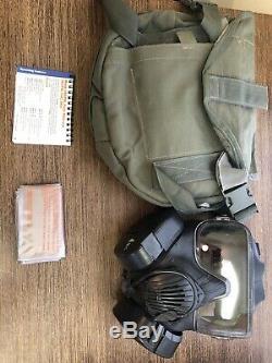 M50 Gaz Véritable Issue Militaire Masque Moyen Armée Air Force. Taille Moyenne. Utilisé