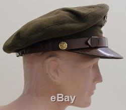 Malgré La Seconde Guerre Mondiale Us Army Air Forces Private Purchase Enlisted Man Crusher Visor Hat