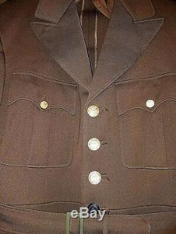 Manteau Veste Od 40l Des Officiers Des Forces Aériennes De L'armée De Terre Américaine (daté De 1944)