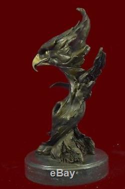 Marbre Aigle Tête Buste Militaire Armée De L'air Force Marine C Bronze Sculpture Statue