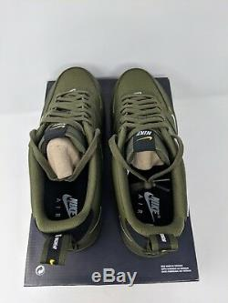Nike Air Force 1'07 Lv8 Utilitaire Hommes Taille 9.5 (aj7747-300) Olive Army One Qs Nouveau