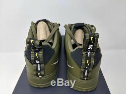 Nike Air Force 1'07 Lv8 Utilitaire Hommes Taille 9 (aj7747-300) Olive Army One Qs Nouveau