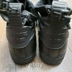 Nike Air Force 1 Af1 Cq7211-003 Taille Des Hommes 11.5 Triple Black Gore-tex Nouveau Nwt