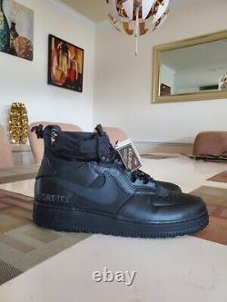 Nike Air Force 1 Af1 Wtr Gtx Hiver Gore-tex Haute Triple Noir Cq7211-003 Sz 13