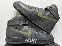 Nike Air Force 1 Haut Premium Charles Barkley Anthracite Armée 317312-031 Taille 15