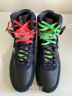 Nike Air Force 1 High'07 Le Black La Halsey Cu3052-001 Taille Homme 14