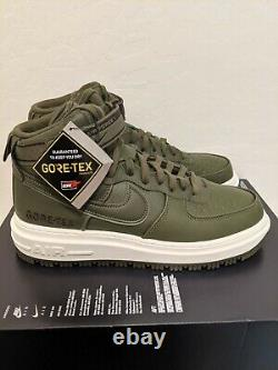 Nike Air Force 1 High Gtx Boot Olive Ct2815-201 Taille 8.5 Goretex Army Green