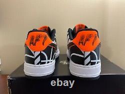 Nike Air Force 1 Low 07 Lv8 Nba Hoops White Black Orange 823511-104 Hommes Sz 11,5