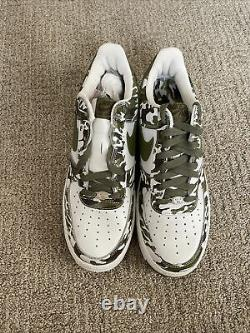 Nike Air Force 1 Low Bape Camo 306353 131 Palm Green Camouflage Af1 One Mens 9,5