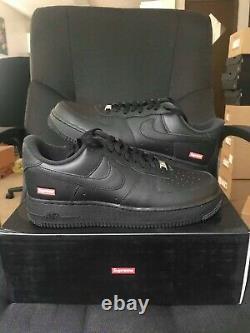 Nike Air Force 1 Low Supreme Black Size 10 Ds Flambant Neuf