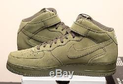 Nike Air Force 1 MID 07 Legion Green Sz 14 315123-302 Qs Olive Af1 Suède De L'armée