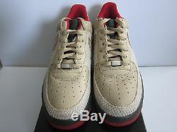 Nike Air Force 1 Premium'07 Chine Sz 13 Tweed Dark Army Red 315180-222