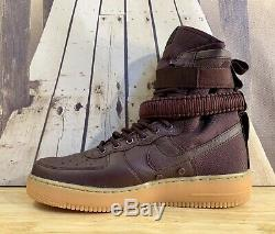 Nike Air Force 1 Sf Haute Profonde Bourgogne Gomme Bottes 864024-600 Taille Hommes 10
