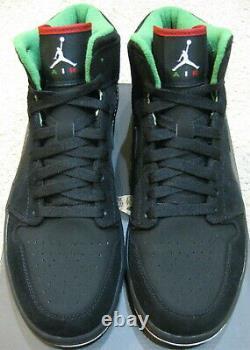 Nike Air Jordan 1 Retro Shoes Cinco De Mayo Mexique Noir Blanc Vert Rouge Hommes 10