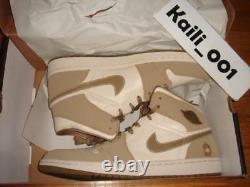 Nike Air Jordan 1 Sz 12 Pearl Blanc / Hay Noix Forces Armées 325514-231 Retro B