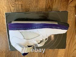 Nike Air Jordan 5 V Retro Air Force 1 Chaussures Fusion Ajf 5 2010 White Grape Hommes 10