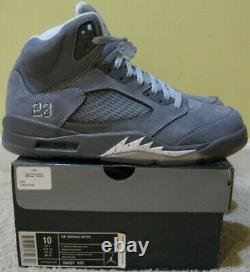 Nike Air Jordan 5 V Retro Chaussures 2011 Wolf Grey 3m White Cool 11 Red Suede Men 10