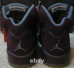 Nike Air Jordan 5 V Retro Ls Shoes 2006 Bourgogne 3m Silver Fire Red Black Hommes 10