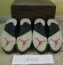 Nike Air Jordan 5 V Retro Shoes Dmp Defining Moments Pack Noir Rouge 6 11 Hommes 10