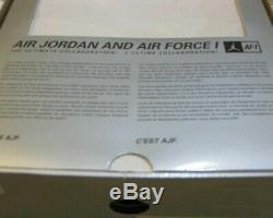 Nike Air Jordan 8 Retro Air Force 1 Ajf Fusion Chaussures Noir Aqua Violet 7 Hommes 10