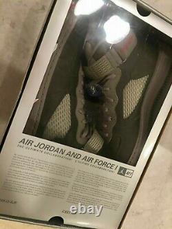 Nike Air Jordan V Retro Force 1 Fusion Ajf 5 Premier Chaussures Gris Infirmière Rouge Hommes 10
