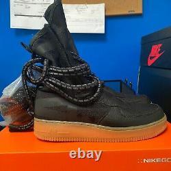 Nike Homme Sf Air Force 1 High Top Boot Aa1128 Sz 9, Noir