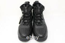 Nike Mens 11 Air Force 1 Gore-tex High Triple Black Cq7211-003 Chaussures Baskets