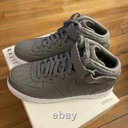 Nike Nikelab Air Force 1 Mi-léger Charbon/blanc Taille Homme 9 819677 001 Af1