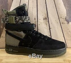 Nike Sf Af1 Air Force 1 Specialite Noir Olive Digi Camo 864024-004 Sz 9.5