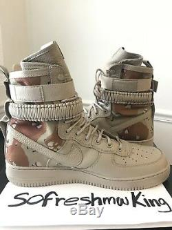 Nike Sf Af1 Desert Camo 864024-202 Taille 13 W Réception! Air Force 1
