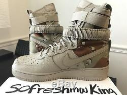 Nike Sf Af1 Desert Camo 864024-202 Taille 8,5 W Réception! Air Force 1