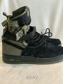 Nike Sf Af1 High Air Force 1 Olive Special Field Boots 864024-004 New Mens 9.5