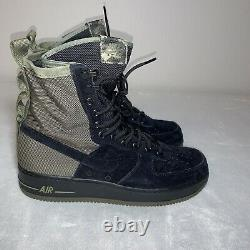 Nike Sf Af1 Mens Haute Air Force 1 Bottes Olive Camo 864024-004 Taille 10 Nouveau
