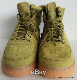 Nike Sf Air Force 1 MID Desert Green Moss Sneakers Chaussures 917753-301 Taille 10