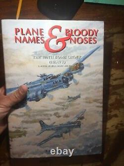 Noms D'avion Et Nez Sanglants Le 100e Groupe De Bombes Ray Bowden Signé