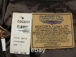 Nwt Cockpit USA A-2 Leather Pilot's Jacket! Marron! Aviateur De L'armée De L'air De La Seconde Guerre Mondiale L