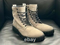 Nwt Diesel Le H-rua Am Mens MID Sneaker Boots Taille 9 Suede -feather Gray