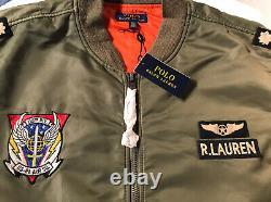 Nwt Polo Ralph Lauren Ma-1 Military Bomber Army Us Air Force Flight Jacket 3xlt